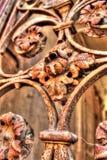 Ржавая орнаментальная решетка Frydlant Стоковые Изображения RF