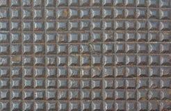 Ржавая предпосылка коричневого цвета текстуры картины квадрата металла Стоковое Изображение