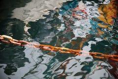 Ржавая промышленная железная цепь Стоковые Фото