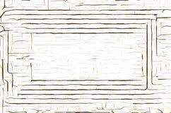 Ржавая рамка белого металла Стоковые Изображения