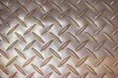 Ржавая стальная предпосылка текстуры плиты диаманта Grungy пол металла Стоковое Изображение RF