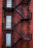 Ржавая старая пожарная лестница Стоковая Фотография
