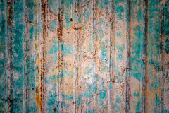 Ржавая стена цинка Стоковые Фото