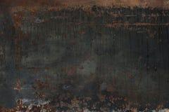 Ржавая сторона 2 стальной пластины Стоковое Фото
