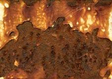 Ржавая текстура конспекта металла стоковые фотографии rf