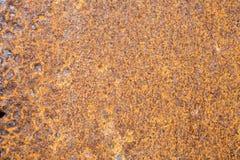 Ржавая текстура металла, винтажная предпосылка Стоковые Фотографии RF