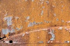 Ржавая текстура металла, винтажная предпосылка Стоковое Изображение RF