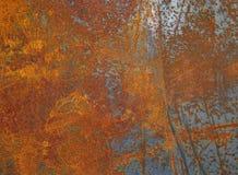 Ржавая текстура металла или ржавая предпосылка металла Vint Grunge ретро Стоковые Фото