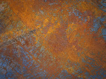 Ржавая текстура металла или ржавая предпосылка металла Vint Grunge ретро Стоковая Фотография
