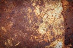 Ржавая текстура металла, ржавая предпосылка металла для дизайна Стоковая Фотография