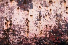 Ржавая текстура металла с пестротканой предпосылкой Стоковые Фото