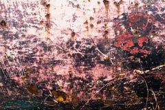 Ржавая текстура металла с пестротканой предпосылкой Стоковая Фотография