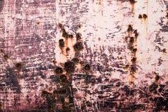 Ржавая текстура металла с пестротканой предпосылкой Стоковая Фотография RF