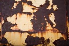 Ржавая текстура металла с пестротканой предпосылкой Стоковые Фотографии RF