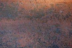 Ржавая текстура стены металла, промышленная предпосылка Стоковые Фотографии RF