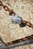 Ржавая цепь замка Стоковое Изображение RF