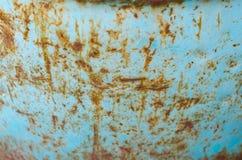 Ржавеет голубая металлическая предпосылка стоковое фото