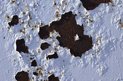 Ржавея paintwork Стоковые Изображения RF