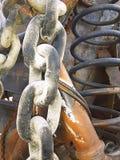 Ржавое звено цепи Стоковая Фотография RF