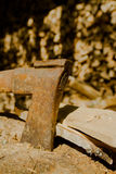 ржавое оси старое Стоковая Фотография
