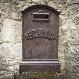 ржавое почтового ящика старое Стоковая Фотография