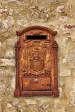 ржавое почтового ящика старое Стоковое фото RF