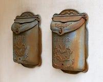 ржавое почтовых ящиков старое Стоковое фото RF