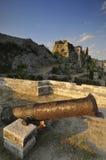 ржавое пушки старое стоковая фотография