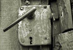 ржавое ручки двери старое Стоковое Изображение RF