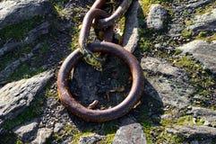 ржавое цепного металла старое Стоковое Изображение