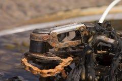 ржавое bike цепное Стоковое фото RF