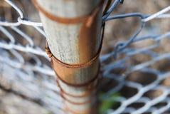 Ржавчина загородки поляка Стоковая Фотография