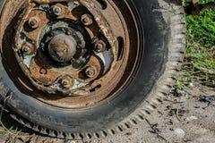 Ржавчина колеса тележки Стоковое Фото