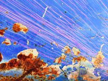 Ржавчина на голубой текстуре Стоковое Изображение