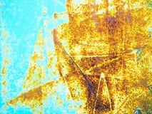 ржавчина на зеленом цвете Стоковые Фотографии RF