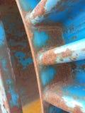 Ржавчина на стальном вьюрке Стоковая Фотография