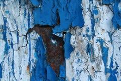 Ржавчина под голубой краской Стоковая Фотография RF