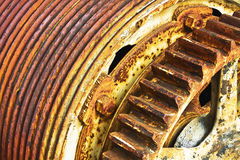 Ржавчина шестерни и вьюрка Стоковое Фото