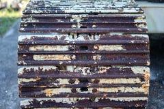 Ржавчина Crawler Backhoe очень, ржавчина, красный цвет стоковая фотография rf