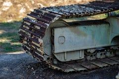 Ржавчина Crawler Backhoe очень, ржавчина, красный цвет стоковые изображения rf