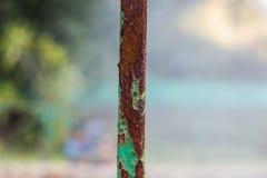 Ржавчина dammage для нержавеющей стали вредные объекты каустическо стоковое изображение