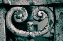 Ржавчина exfoliates от детальных орнаментов Стоковое Фото
