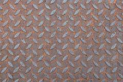 Ржавчины плиты нержавеющей стали предпосылка текстуры железной флористическая Стоковые Изображения