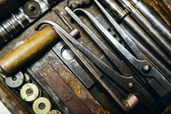 Ржавые винтажные инструменты Стоковые Фото