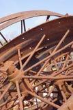 Ржавые винтажные колеса стоковое изображение