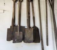 Ржавые винтажные лопаты Стоковая Фотография