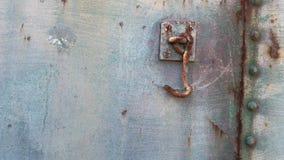 Ржавые крюк и заклепки на экипаже поезда Стоковые Изображения RF