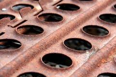Ржавые плиты стоковая фотография rf