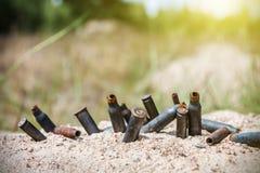Ржавые раковины пули на поле брани Стоковое Изображение RF