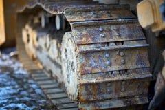 Ржавые следы бульдозера Стоковое фото RF